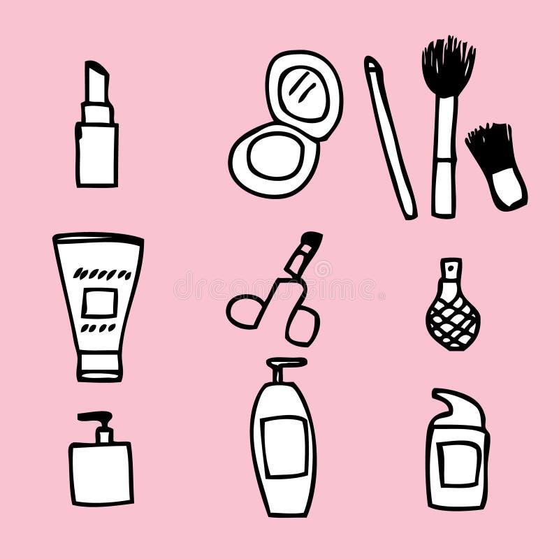 Cosmetics Icon. Illustration of cute hand drawn cosmetics icon stock illustration