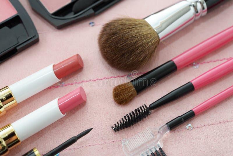 Cosmetics image. Decorative cosmetics on the dressing table stock photo