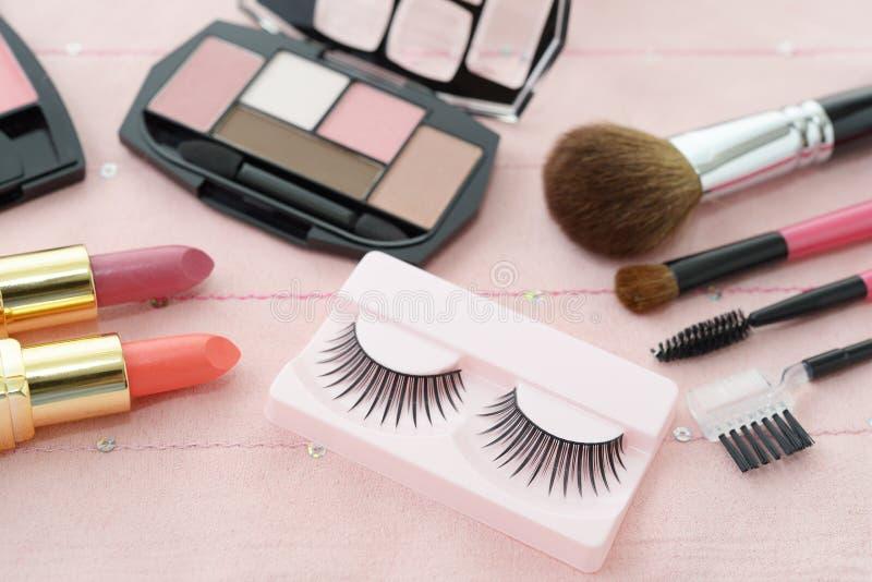 Cosmetics image. Decorative cosmetics on the dressing table stock image
