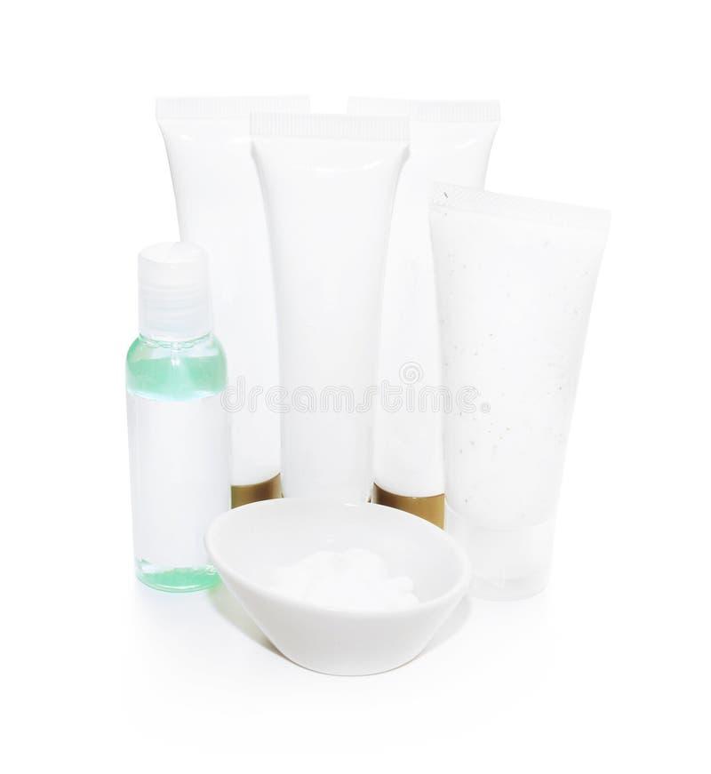 Cosmetics isolated on white background stock photo