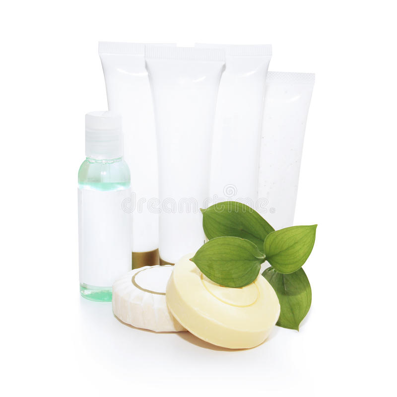Cosmetics isolated on white background stock photography