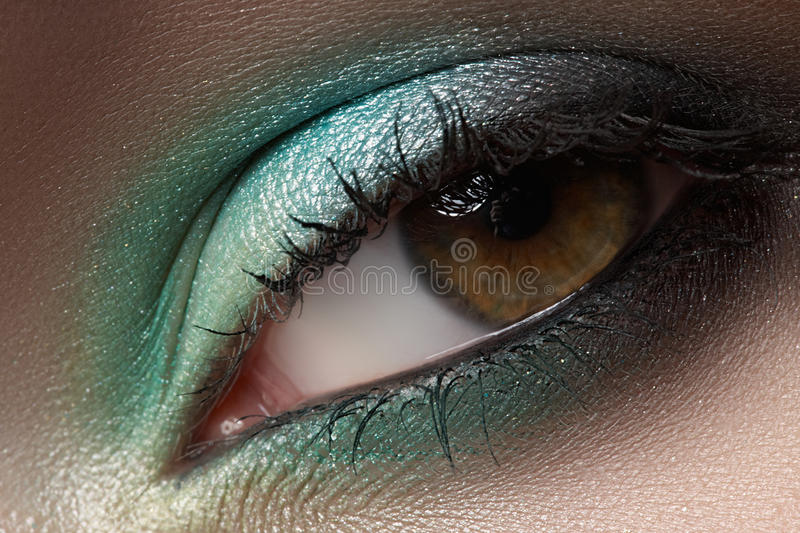 Download Cosmetics, Macro Eye Make-up. Fashion Mint Shadows Stock Photo - Image: 25800272