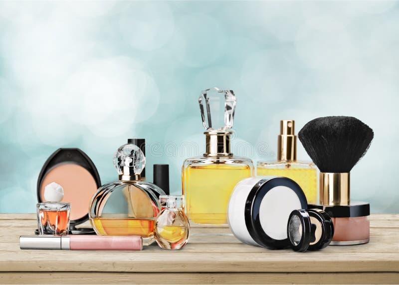 Cosmetics. Make-up perfume beauty personal accessory fashion lipstick royalty free stock photo