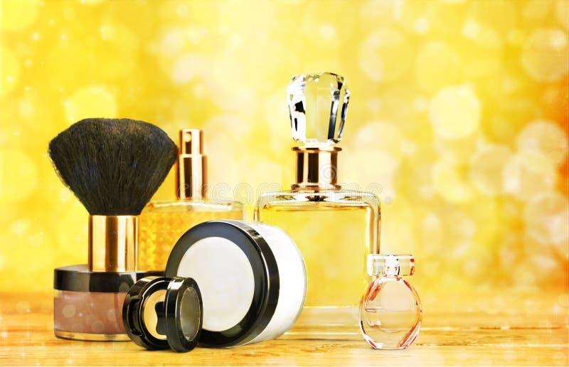 Cosmetics. Make-up perfume beauty personal accessory fashion make-up brush stock photos
