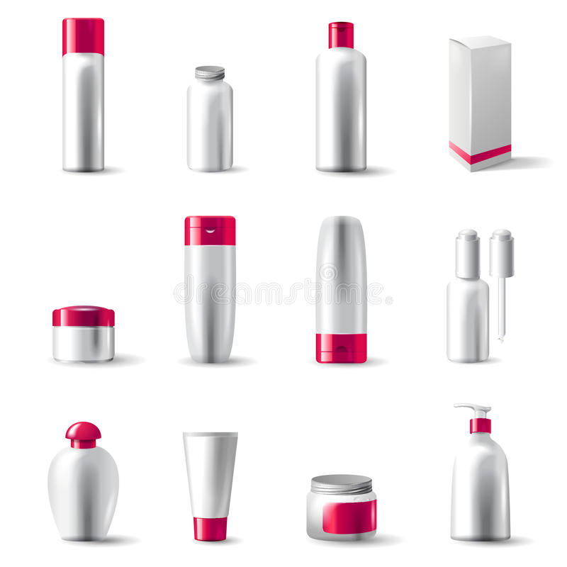Cosmetics package vector illustration