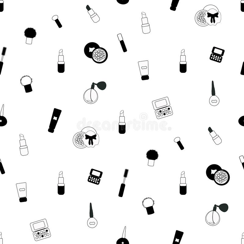 Cosmetics seamless pattern royalty free illustration