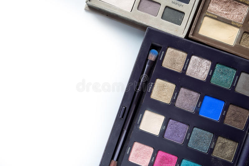 Cosmetics on white. Cosmetics on the white background royalty free stock photography