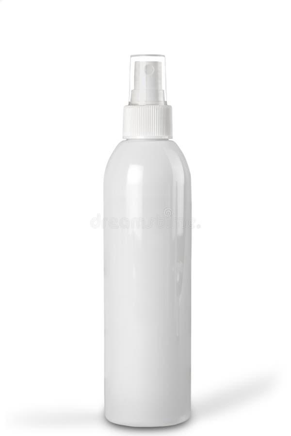 Cosmetische productfles op achtergrond wordt geïsoleerd die stock foto's
