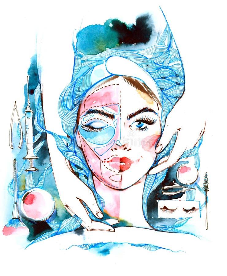 cosmetología stock de ilustración