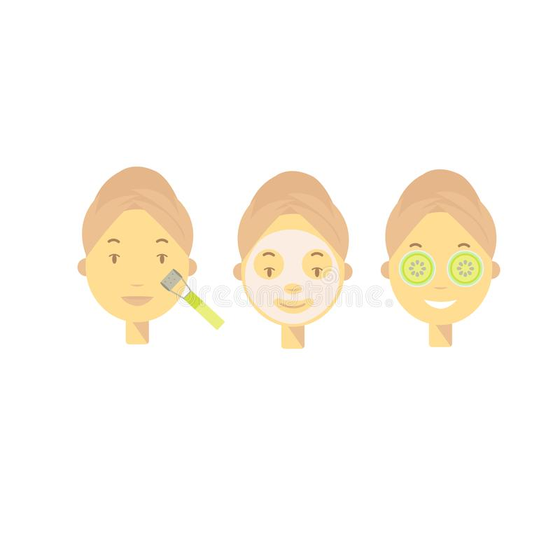 Cosmetologia di vettore Illustrazione di vettore delle procedure cosmetiche illustrazione vettoriale