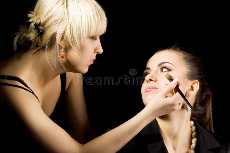 cosmetologist robić uzupełniam zdjęcia stock