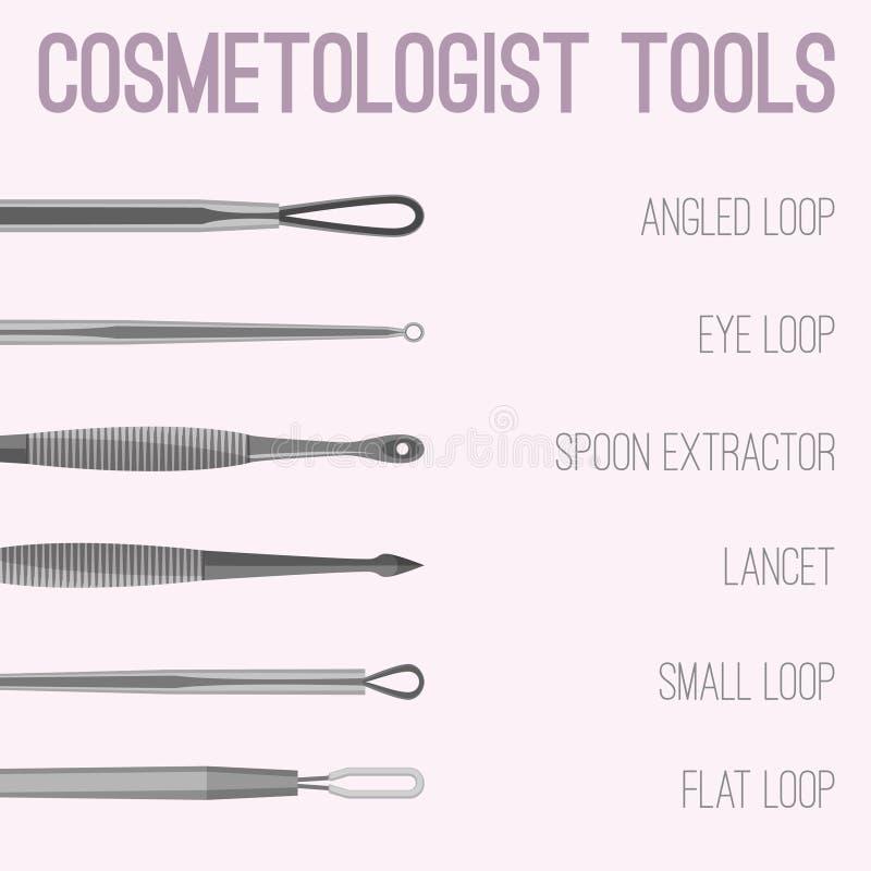 Cosmetologist Tools Image ilustración del vector