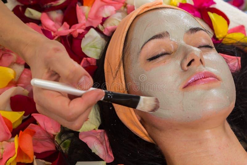 Cosmetology spa facial royalty free stock photo