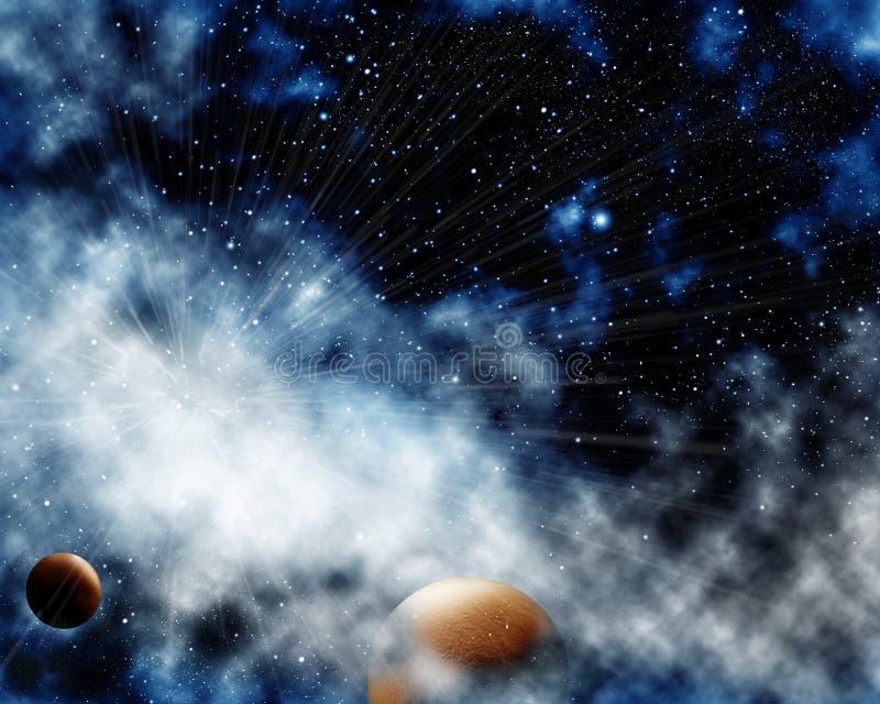 Cosmic dust royalty free illustration