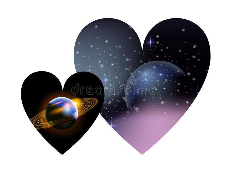 Download Cosmic hearts stock image. Image of mystic, foreign, number - 28735137
