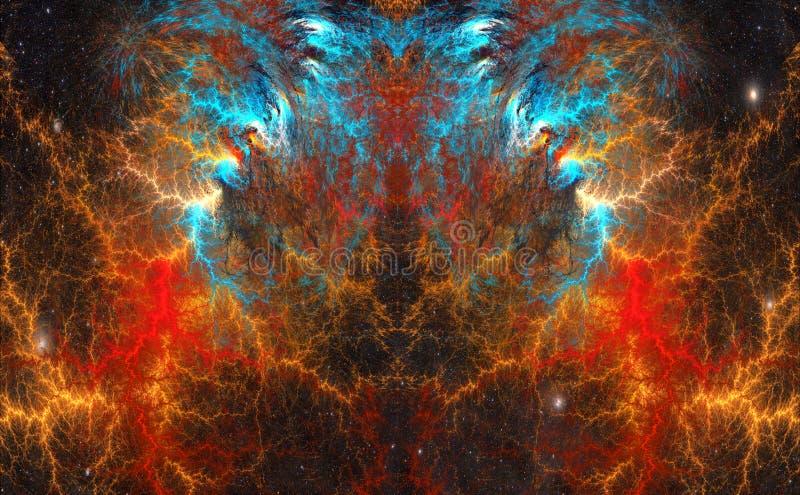 The cosmic mind. Fractal Art. royalty free illustration