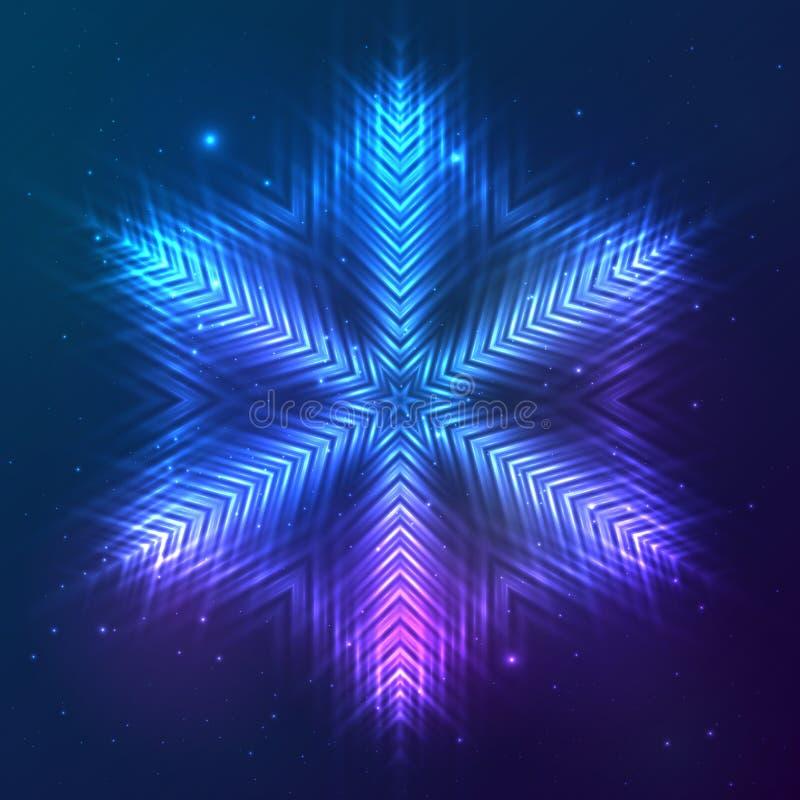 Download Cosmic Shining Vector Abstract Snowflake Stock Vector - Image: 41356124