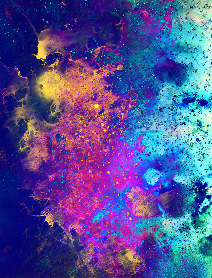 Cosmic space and stars, color cosmic abstract background. Fire effect. Cosmic space and stars, color cosmic abstract background. Fire effect stock illustration
