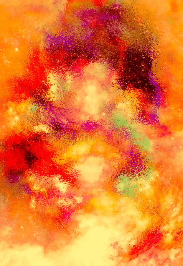 Cosmic space and stars, color cosmic abstract background. Fire effect in space. Cosmic space and stars, color cosmic abstract background. Fire effect in space stock illustration