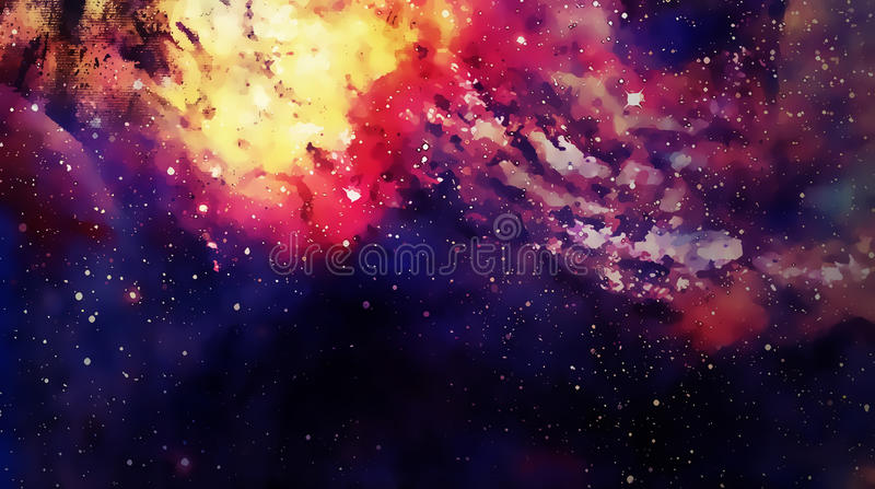 Cosmic space and stars, color cosmic abstract background. Graphic effect. vector illustration
