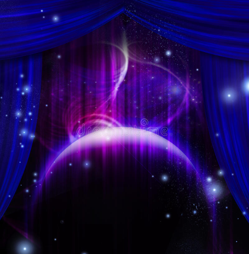 Cosmic Stage stock illustration