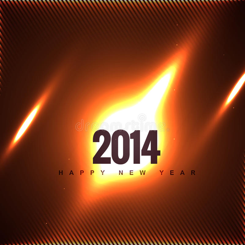 Cosmic Style New Year Design Royalty Free Stock Images