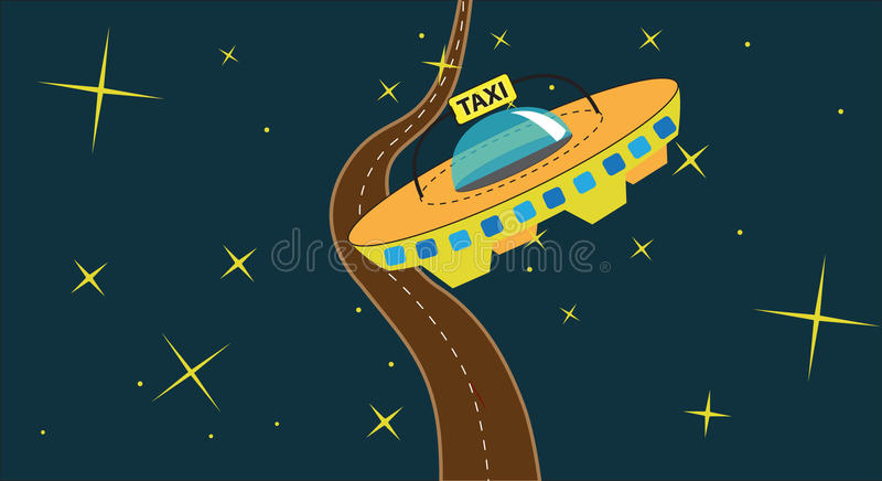 Download Cosmic taxi stock vector. Image of highway, symbol, retro - 10514679
