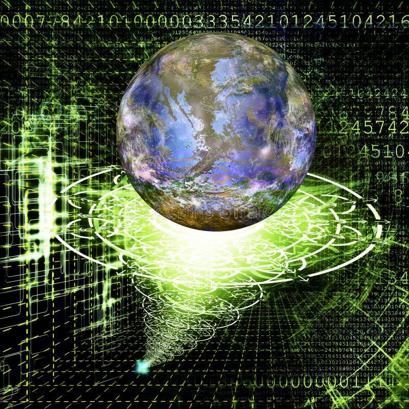 The cosmic technology stock illustration