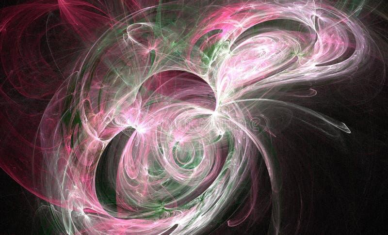 cosmo带淡红色的漩涡 库存例证