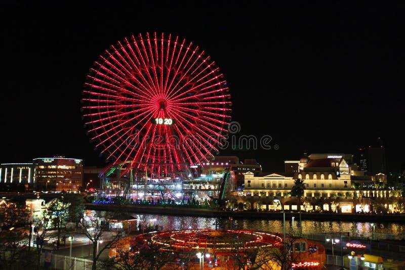 Cosmo时钟21弗累斯大转轮横滨,日本 免版税库存图片