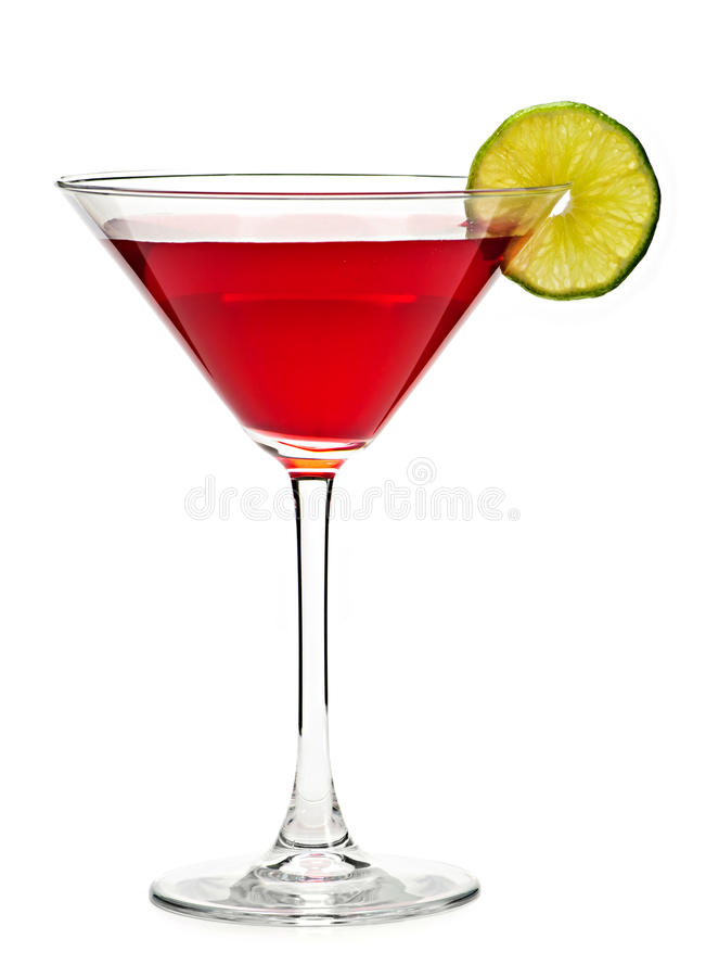 Cosmopolitan cocktail drink. Isolated on white background stock photos