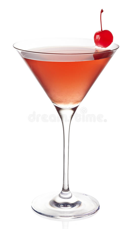 Cosmopolitan cocktail. On white background stock image