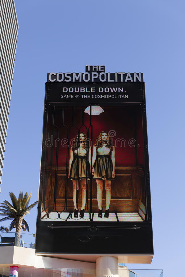 The Cosmopolitan Hotel Sign in Las Vegas, NV on April 19, 2013 stock photo