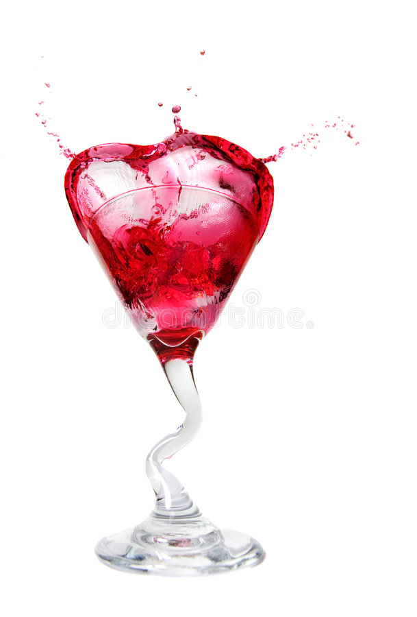 Cosmopolitan splash stock photography