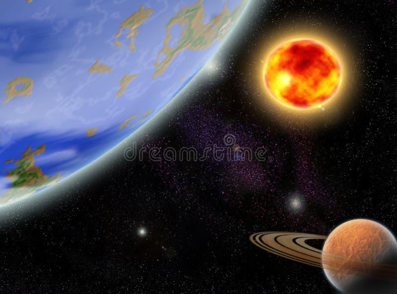 Cosmos illustration stock