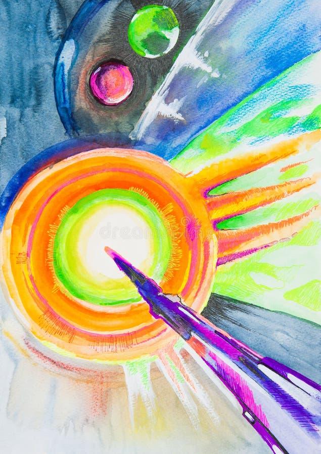 Cosmos illustration libre de droits