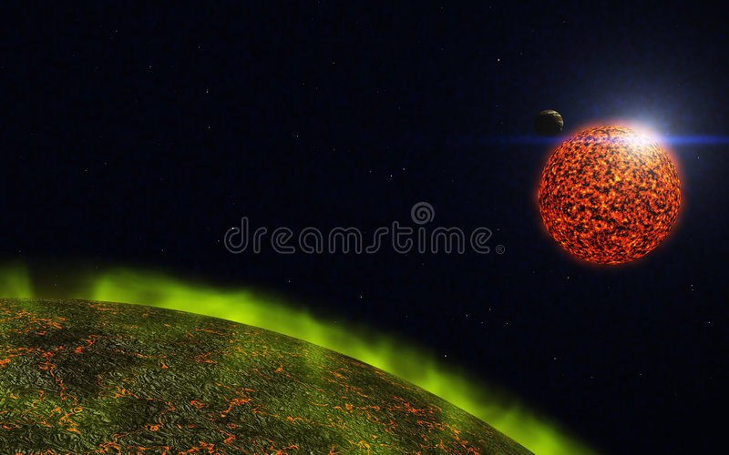 Download Cosmos stock illustration. Image of bright, moon, system - 7146998
