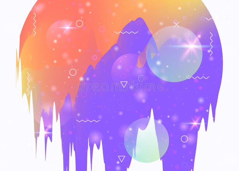 Cosmos background with abstract holographic landscape and future stock illustration