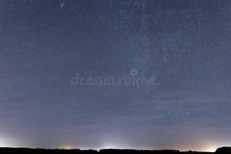 Cosmos backgroundConstellations Cassiopeia, Andromeda, Cepheus, royalty free stock image