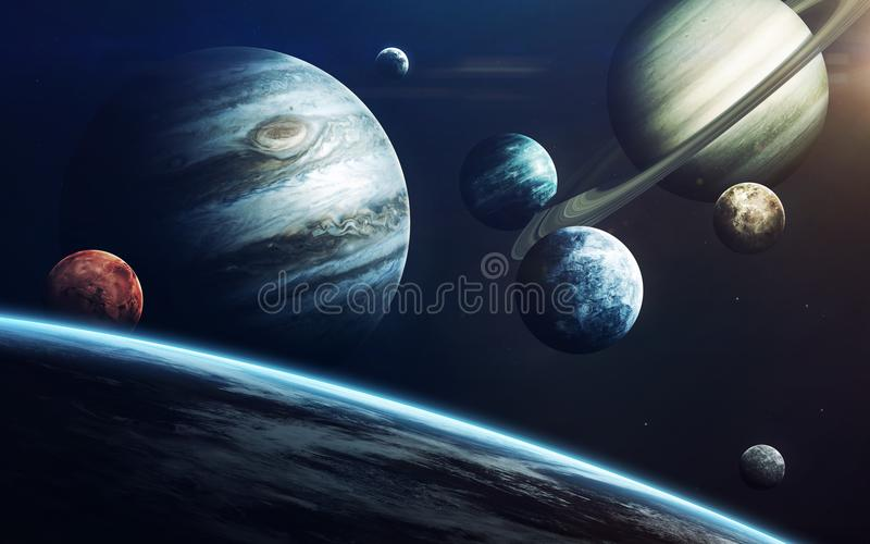 Science fiction art. Beauty of deep space. Elements of this image furnished by NASA vector illustration