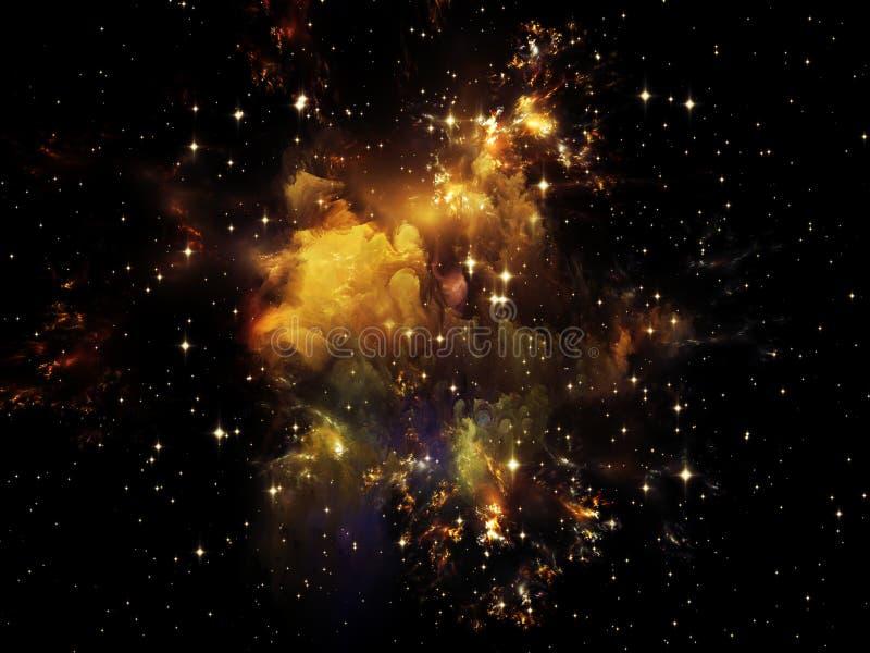 Cosmos en dedans images stock