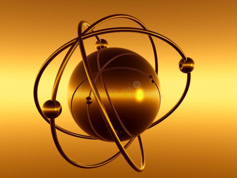 Cosmos micro ilustración del vector