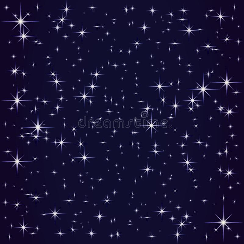 Cosmos and shining stars. Cosmos and shining stars on blue background stock illustration