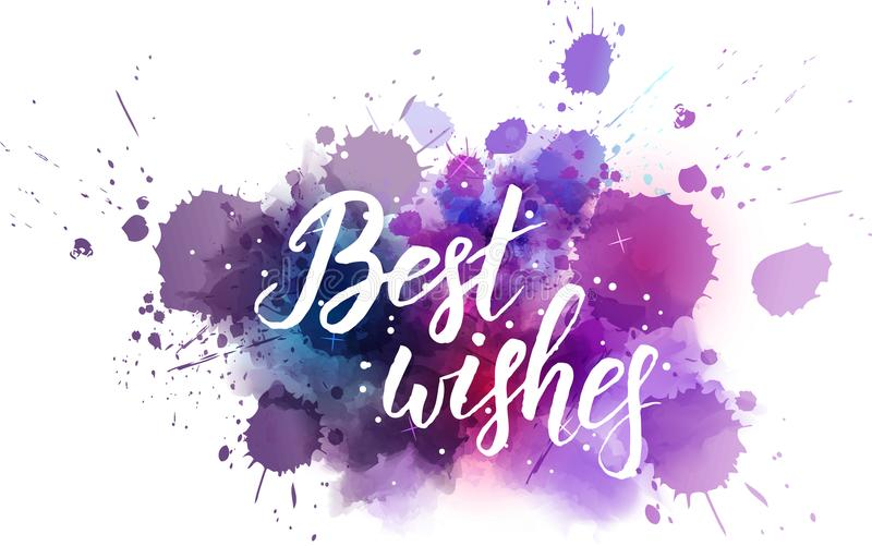 Best wishes galaxy background stock illustration