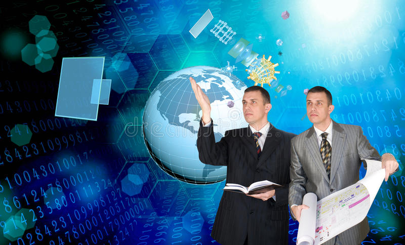 Cosmos technology. Engineering computer technology.Computing technical designing stock photography