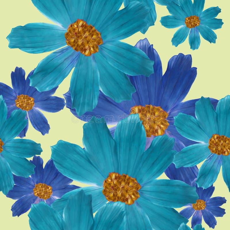 cosmos Texture sans couture de modèle des fleurs Fond floral, vecteur illustration stock