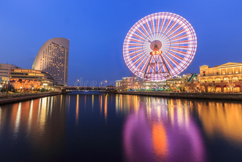 Cosmowereld in Yokohama royalty-vrije stock afbeelding