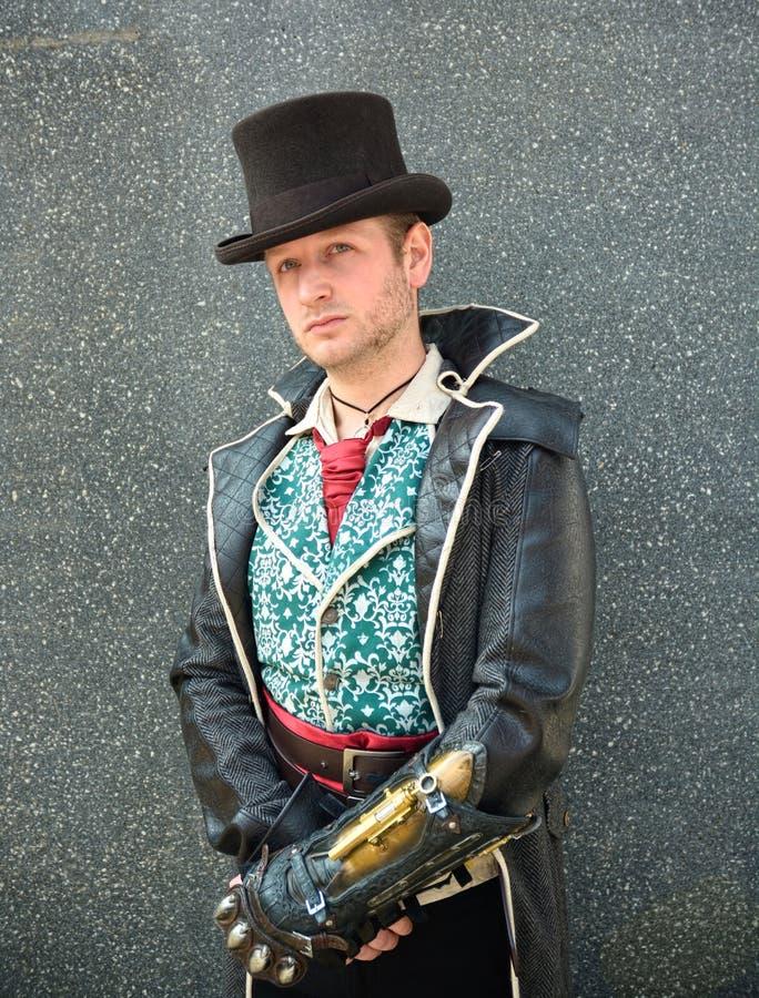 cosplay的高顶丝质礼帽 免版税库存图片