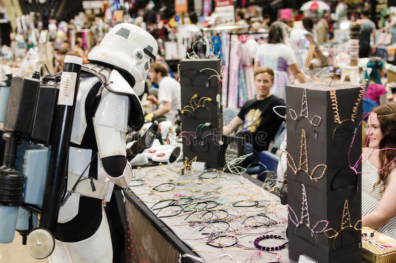 Cosplay As Stormtrooper From Star Wars. Editorial Stock Image - Image of  dressing, lifestyle: 96552099