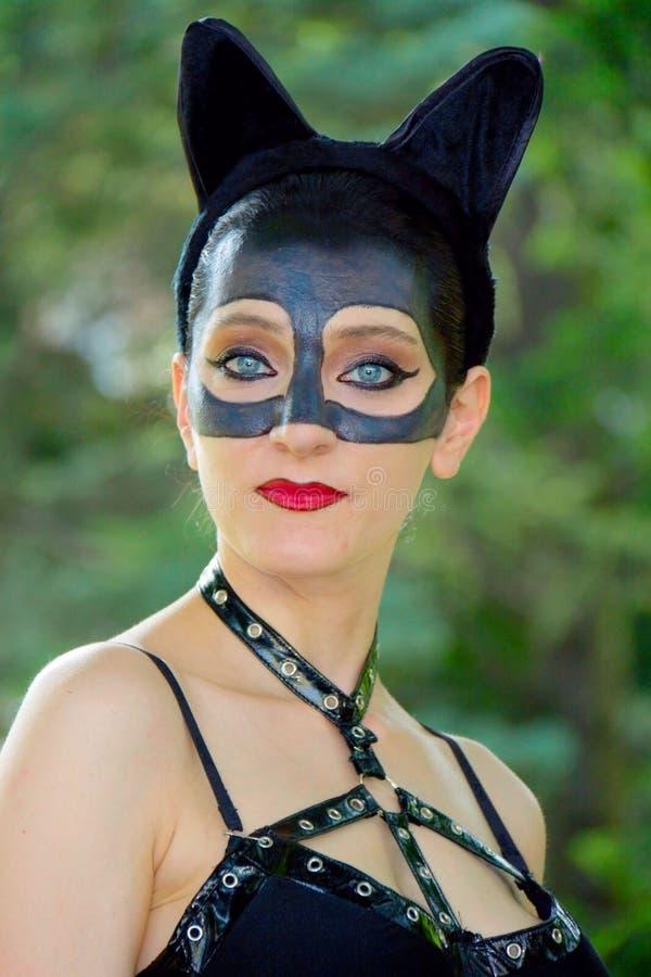 Cosplay - Catwoman stock photos